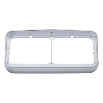 Rectangular Dual Headlight Bezel w/ Visor