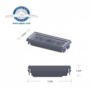 Chrome Plastic Peterbilt A/C & Heater Large Vent