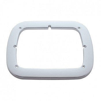 Chrome Single Rectangular Headlight Bezel