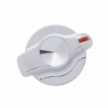 Chrome Plastic 2006+ Peterbilt Signature A/C Control Knob - Indented