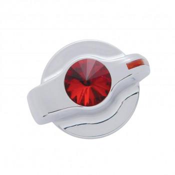 Chrome Plastic 2006+ Peterbilt Signature A/C Control Knob W/ Diamond - Red
