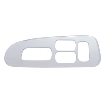 Chrome Plastic 2006+ Peterbilt Window Switch Trim - Driver Side W/ 4 Openings