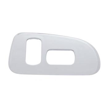 Chrome Plastic 2006+ Peterbilt Window Switch Trim - Passenger Side W/ 2 Openings