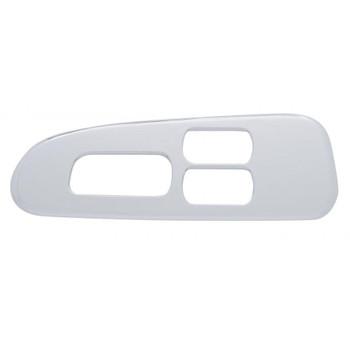 Chrome Plastic 2006+ Peterbilt Window Switch Trim - Driver Side W/ 3 Opening
