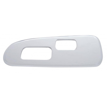 Chrome Plastic 2006+ Peterbilt Window Switch Trim - Driver Side W/ 2 Opening