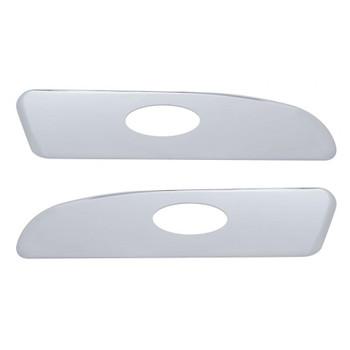 Chrome Plastic 2006+ Peterbilt Interior Door Emblem Panel Trim