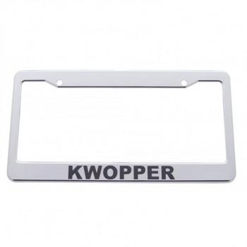 Chrome Plastic License Frame - Kwopper
