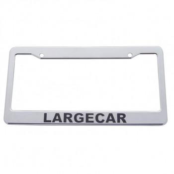 Chrome Plastic License Frame - Largecar