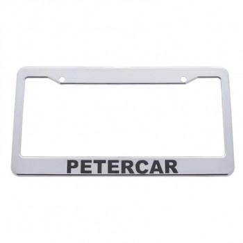Chrome Plastic License Frame - Petercar