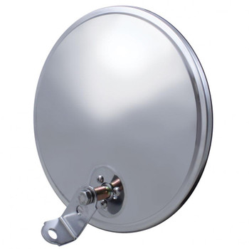 "8 1/2"" Stainless Convex Mirror - Offset Stud"