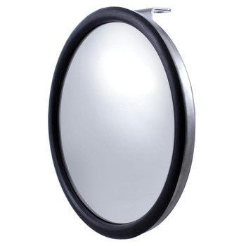 """8 1/2"""" Stainless Convex Mirror - Offset Stud"""