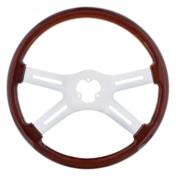 "18"" Chrome Steering Wheel - 4 Spoke"