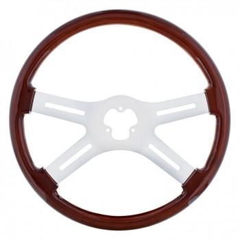 """18"""" Chrome Steering Wheel - 4 Spoke"""