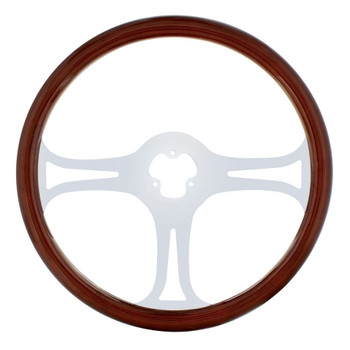 "18"" Chrome Steering Wheel - 3 Spoke ""Blade"""