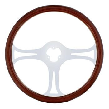 """18"""" Chrome Steering Wheel - 3 Spoke """"Blade"""""""