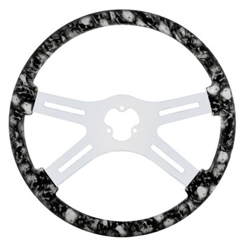 "18"" Skull Steering Wheel - White"