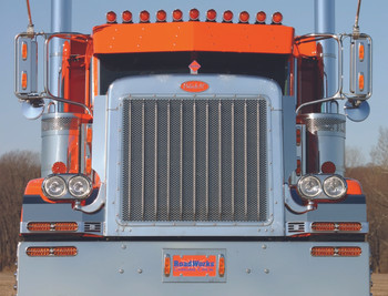 Roadworks Peterbilt Extended Hood Grill - 1/4 round holes