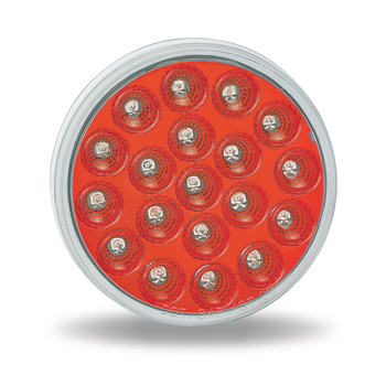 "4"" Anodized Dual Revolution Red Stop/Turn/Tail and Reverse LED"