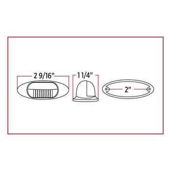White Step LED (3 Diodes) - For License Plate Light