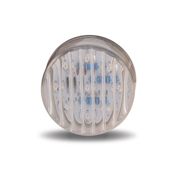 """2"""" Round Amber Ribbed LED (9 Diodes)"""