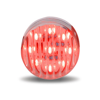 """2 1/2"""" Round Ribbed Red LED (13 Diodes)"""""""