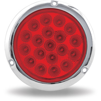 """4"""" Red Stop, Turn & Tail Flangemount LED (19 Diodes)"""