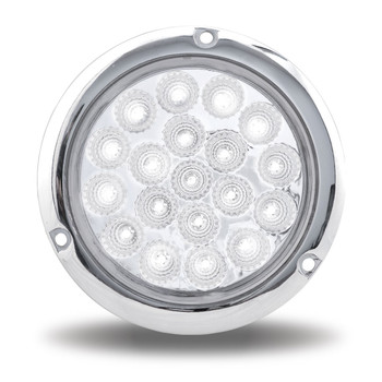 """4"""" Dual Red/White Stop, Turn & Tail Flange Mount LED (19 Diodes)"""