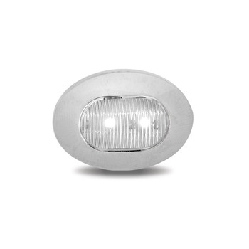Mini Oval Button Dual Revolution Red/White LED