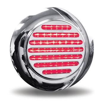 """4"""" Dual Flatline Flange Mount Red/Blue LED (49 Diodes)"""