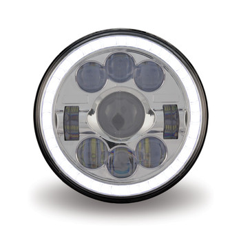 "7"" Round LED Headlight (1320 Lumens)"