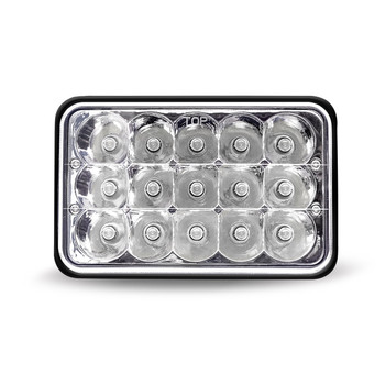 "4"" x 6"" LED Headlight with High Intensity Epistar Diodes (15 Diodes) - 1860 Lumens - Not DOT Approved"