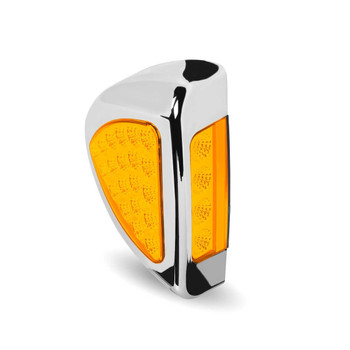 Peterbilt Side Headlight Triangle Clear Amber LED (24 Diodes)