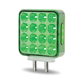 Dual Revolution Double Face Double Post Square LED (Amber/Red/Green) - (44 Diodes)