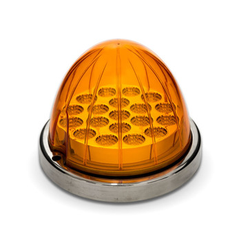 Amber Watermelon LED with Reflector Cup & Lock Ring (19 Diodes)