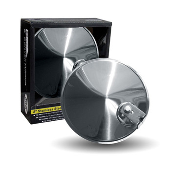 "8"" Convex Mirror w/ Offset Mounting Bracket"