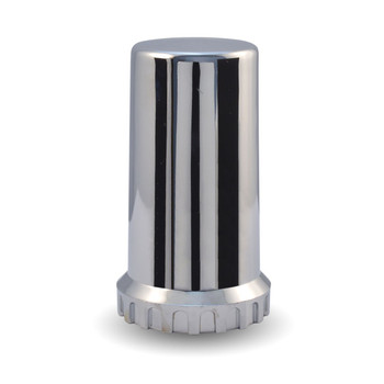 Chrome Plastic 33mm Threaded Long Nut Cover