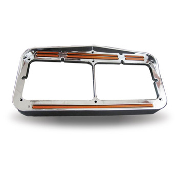 Universal Rectangular Flatline Headlight Bezel - Amber