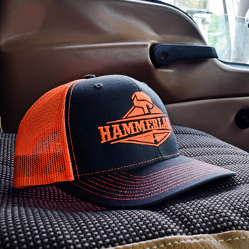 Snapback Neon Orange Hammerlane Hat