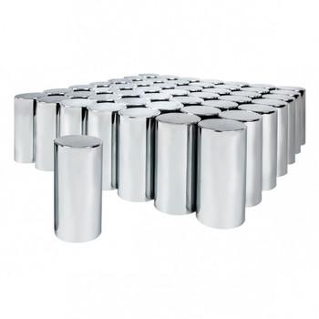 "33 mm x 4 1/4"" Chrome Tall Cylinder Nut Cover - Thread-On"