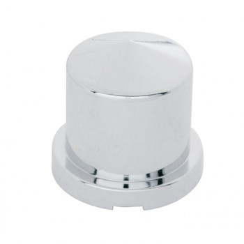 """(10/Pack) Chrome 15/16"""" X 1 1/2"""" Pointed Round Push-On Nut Cover"""