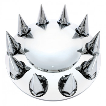 Chrome Spike Front Axle Cover - 33Mm Thread-On