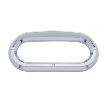 Chrome Plastic Oval Bezel W/ Visor
