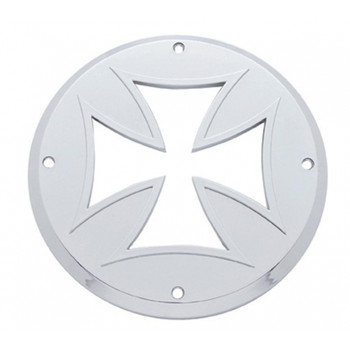 "Chrome Plastic 4"" Flat Light Iron Cross Light Bezel"