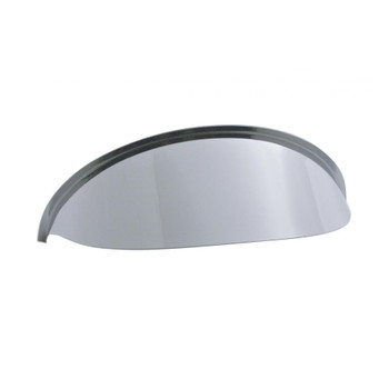 "5 3/4"" Round Chrome Headlight Stainless Visor"