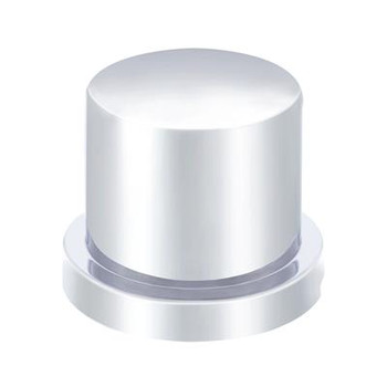 "(10/Pack) Chrome Plastic 15/16"" X 1 3/16"" Flat Top Nut Cover"