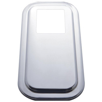 Stainless Steel Peterbilt Shift Plate Cover - Extended Hood 2