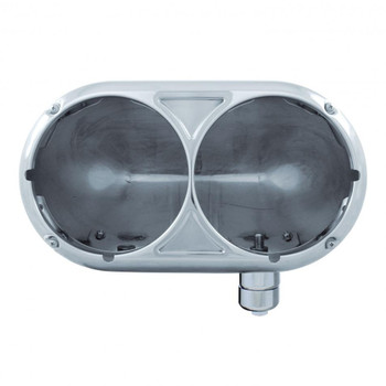 Peterbilt 359 Stainless Dual Headlight Housing