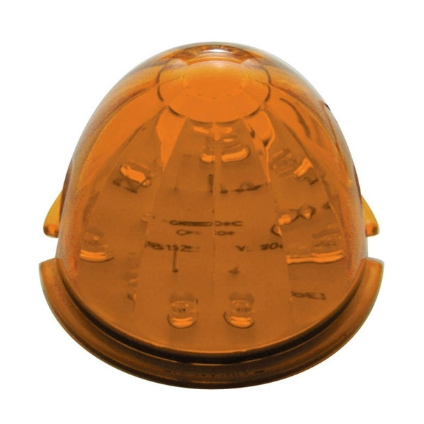 17 Amber Led Round Watermelon Dual Function Auxiliary/Cab Light