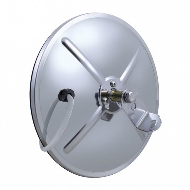 "Stainless 8 1/2"" Convex Mirror - 320R - Center Stud"