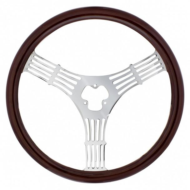 """18"""" Wood Steering Wheel - Banjo"""